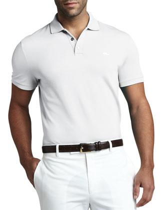 Mesh Polo, White