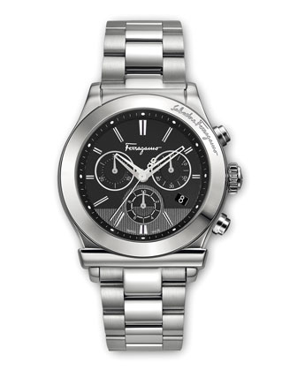 Classic Stainless Steel Chronograph Watch