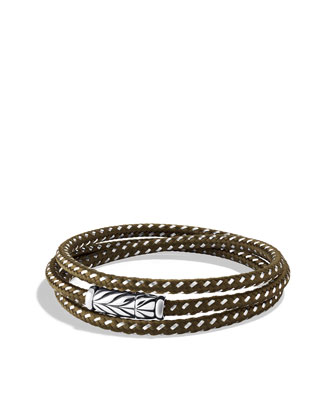 Chevron Triple-Wrap Bracelet in Green