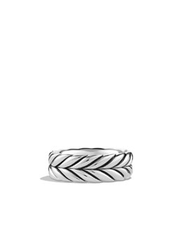 David Yurman Chevron Band Ring, 8.5mm