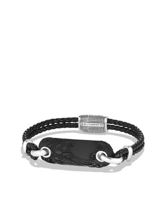 Waves Tablet Bracelet with Black Onyx