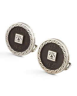 John Hardy Ancient Coin Cuff Links
