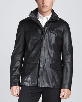 Leather Military Jacket