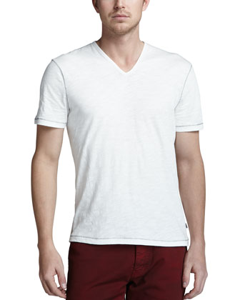 V-Neck Tee, Off-White