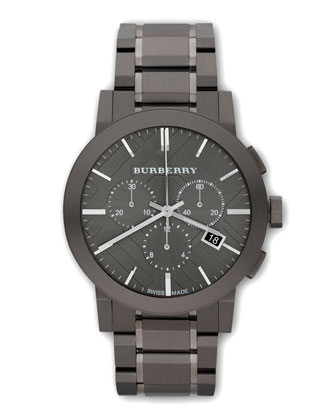Classic Chronograph Watch, Gunmetal