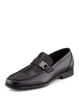 Salvatore Ferragamo Tazio Side Ornament Loafer, Black