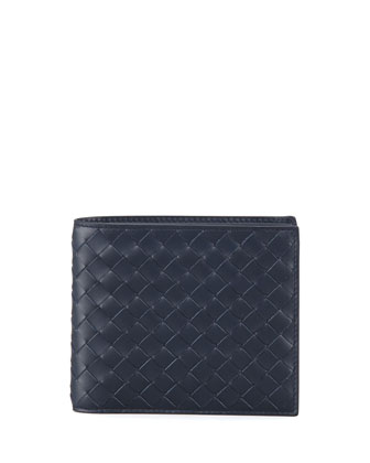 Basic Woven Wallet, Blue