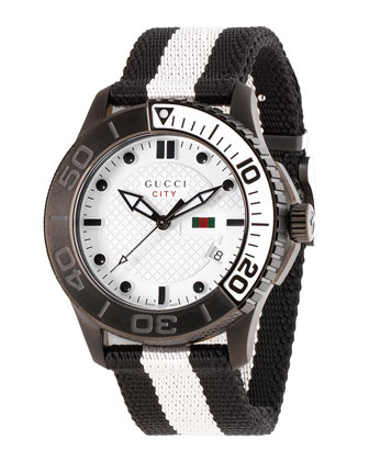 XL Sport Watch, Black/White