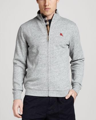 Check-Trim Fleece Zip Jacket
