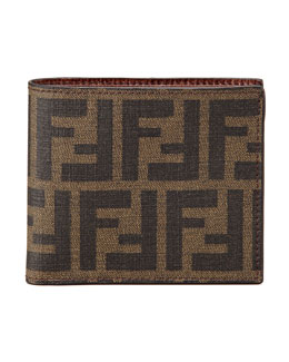 Fendi Men's Logo Bifold Wallet, Tobacco