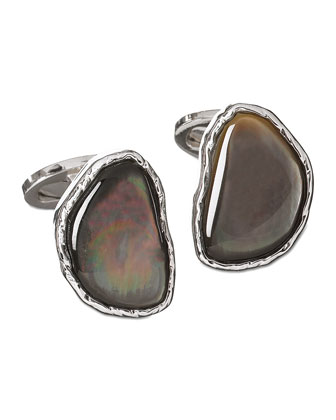 Mother-of-Pearl Stone Cuff Links