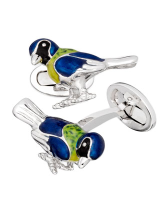 Tropical Bird Cuff Links