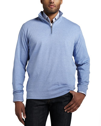 Interlock Quarter-Zip Sweater & Check Sport Shirt