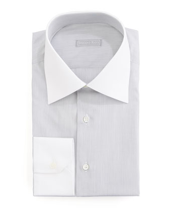 Micro-Stripe Dress Shirt