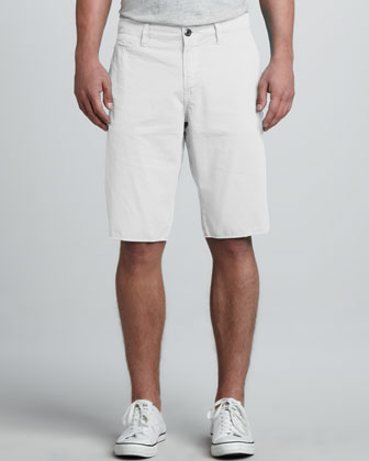 St. Bart's Raw-Edge Shorts, White