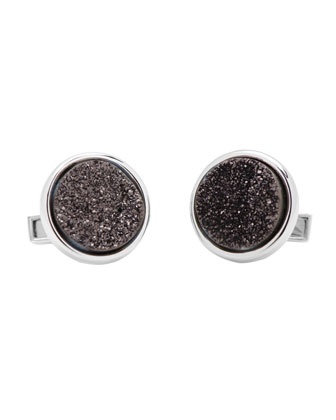Druzy Cuff Links, Black