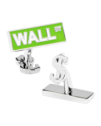 Wall Street Sign Cuff Links