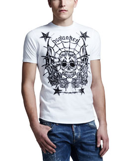 Dsquared2 Skull & Stars Graphic Tee