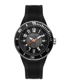 Philip Stein Extreme Rubber-Strap Watch