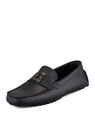 Zucca-Buckle Driver, Black