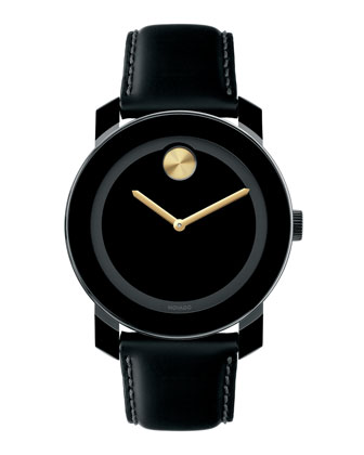 42mm Bold Watch, Black/Gold