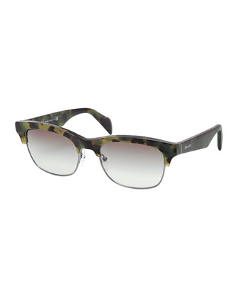 Cat-Eye Sunglasses, Green