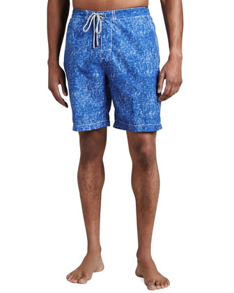 Angelfish Printed Swim Trunks