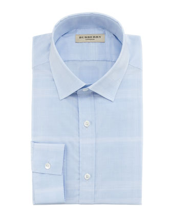 Check Dress Shirt, City Blue