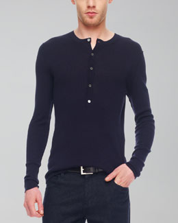 MICHAEL KORS Ribbed Henley