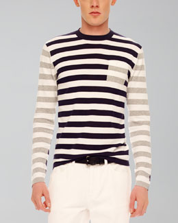 MICHAEL KORS Mix-Stripe Knit Sweater