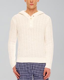 MICHAEL KORS  Ribbed Knit Pullover, White