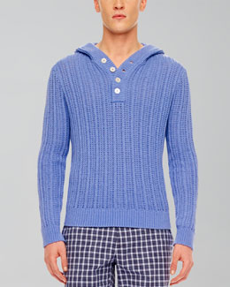 MICHAEL KORS  Ribbed Hooded Pullover