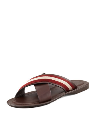 Briley Web Cross Sandal, Chocolate