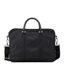 Bally Metode Leather Business Bag, Small