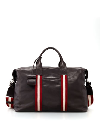 Terret Web-Trim Leather Duffel Bag