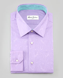 Robert Graham Bruce Paisley Dress Shirt, Lavender