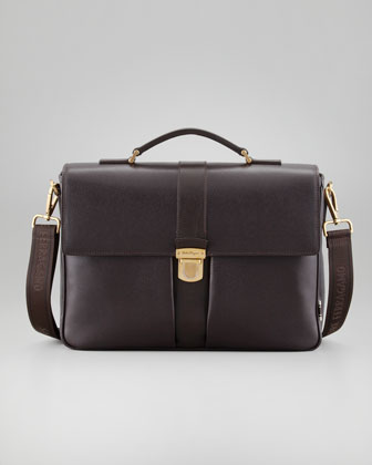 Los Angeles Men's Briefcase, Brown