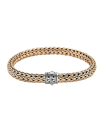 Classic Bronze Men's Woven Chain Bracelet