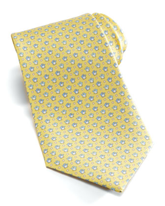 Penguins Silk Tie, Yellow