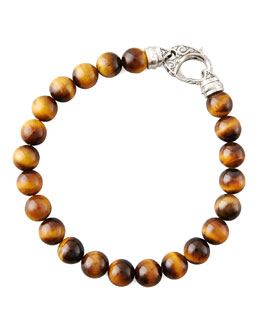 Stephen Webster Beaded Tiger's Eye Bracelet, 8mm