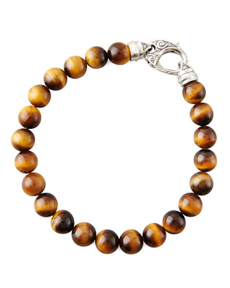 Beaded Tiger's Eye Bracelet, 8mm