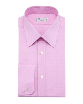 Check Dress Shirt, Pink/