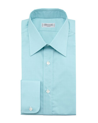 Check Dress Shirt, Light Green