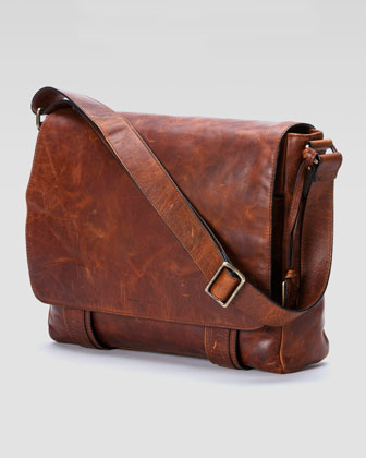 Logan Men's Messenger Bag, Antique Cognac