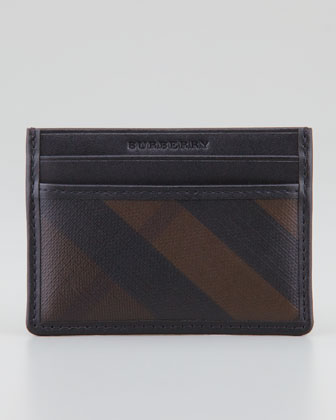 Dark Check Card Case, Black
