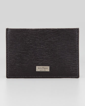 Revival Flat Card Case, Dark Gray