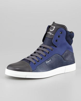 Stephen Hi-Top Sneaker, Navy Multi