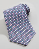 Vara-Print Silk Tie, Blue