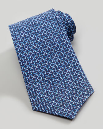 Ferragamo Links Silk Tie, Blue