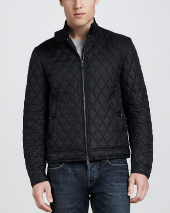 Howson Quilted Biker Jacket, Black